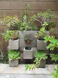 and corner gardens you can make out of cinder blocks