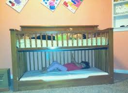 How To Convert Crib Into Toddler Bed Let S Fill The Crib To Toddler Bunk Bed