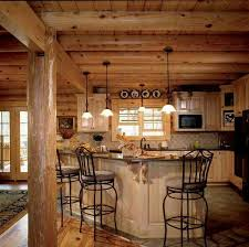 Cabin Kitchen Cabinets Log Cabin Kitchen Rustic Living Log Home Timber Frame