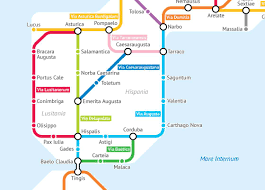Map Of The Roman Empire Turning The Roads Of Roman Empire Into A Subway Map Ufunk Net