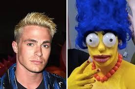 Marge Halloween Costume Colton Haynes Marge Simpson Halloween U0027m Rocked