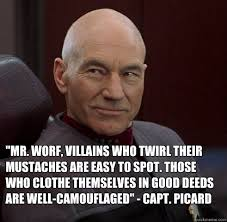 Jean Luc Picard Meme - villains who twirl their mustaches jean luc picard played by