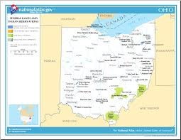 Map Of Kentucky And Ohio by Map Of Ohio Map Of Federal Lands And Indian Reservations