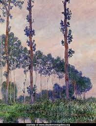 claude oscar monet the complete works three trees in grey