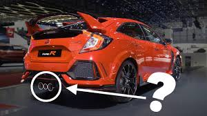 honda civic type r 2018 honda civic type r cool facts exhaust