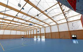 Prefab Construction Prefab Building For Multipurpose Gyms Steel Wooden Frame