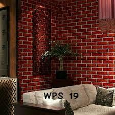 wallpaper design batu bata jual wallpaper dinding 45cm x 10 m warna dan corak batu bata merah