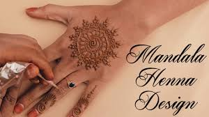 simple mehndi designs for hands mandala henna design step by