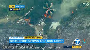 Fire In Los Angeles Today Map by La Tune Fire Mandatory Evacuations Ordered For Glen Oaks