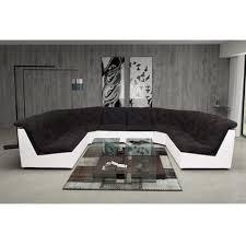 canapé d angle noir et blanc pas cher canapé d angle panoramique noir blanc modern sofa pas cher à prix