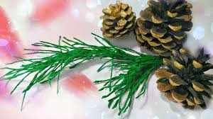 how to make pine branch diy crepe paper christmas tree craft ideas