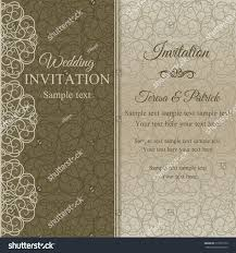 Gold Invitation Card Baroque Invitation Card Oldfashioned Style Dull Stock Vector