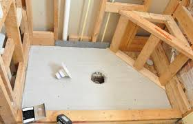 Basement Flooring Tiles With A Built In Vapor Barrier How To Pour A Shower Pan Great Website Cabin In The Northwoods