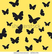 butterfly yellow pattern vector illustration stock vector
