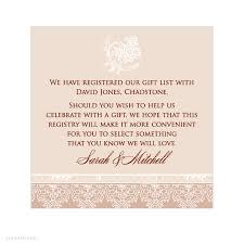 wedding gift registry wording wedding invitation registry wording amulette jewelry