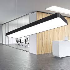 plafonnier bureau led bureau lustre longue bande lumière école classe restaurant