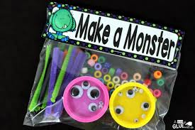 make a monster a dab of glue will do