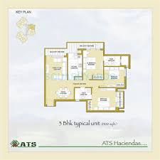 3 bhk 1300 sq ft apartment for sale in ats haciendas at rs