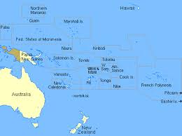 map of the map of the islands of the pacific