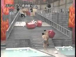 slippery stairs on japanese game show tone deaf