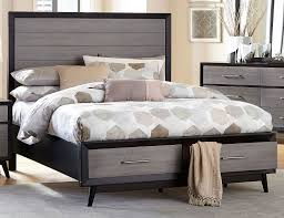 contemporary gray u0026 black 6 piece king bedroom set raku rc