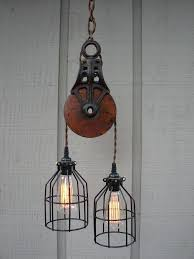 Pulley Pendant Light Pendant Pulley Light Industrial Pulley Pendant Lighting Ideas For