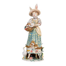 dapper rabbit standing female figurine fitz and floyd