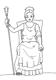 goddess hera coloring pages hellokids com