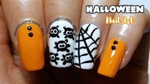 halloween nail art easy spider u0026 spiderweb tutorial youtube