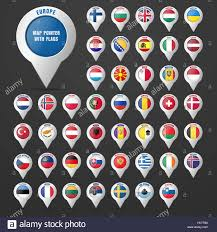 Europe Flag Map by Set The Pointer To The Map With The Country U0027s Flag And Its Name