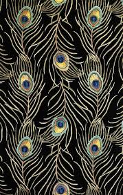 738 black peacock feathers area rug by kas rugs Peacock Area Rugs