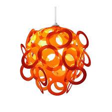 shades of orange amusing orange lamp shades made of white plastic and the