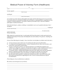 Free Medical Power Of Attorney Form Pdf by Medical Power Of Attorney Form Legalforms Org