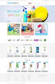 website template 48294 cleaning supplies products custom website
