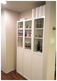 Storage Bookcase With Doors Ikea Pantry Hack Kitchen Pantry Using Ikea Billy Bookcase
