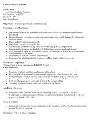 Cable Installer Resume Sample by 19 Cable Installer Resume Sample Proper Greeting For Cover