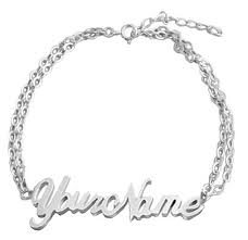 personalized name bracelets personalized customized name jewelry silver gold name necklace