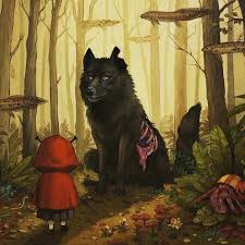 meets the big bad wolf print 奥 mysterious