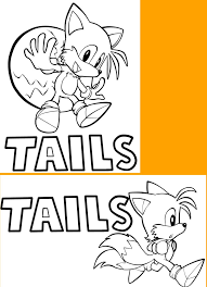 sonic tails coloring pages imchimp me