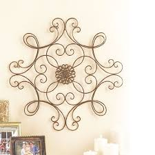 amazon com square scrolled metal wall medallion decor home u0026 kitchen