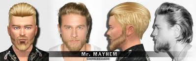 getting a jax teller hairstyle charlie hunnam jax teller sons of anarchy for sims 4