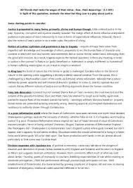 sample essay plan example essay plan justice