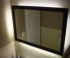 Backlit Mirror Bathroom by Innoci Usa Rounded Edge Back Lit Mirror With 50 000 Hour Led Bulb