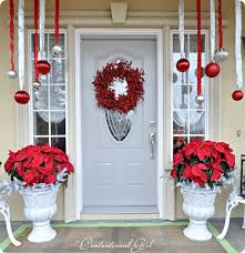 Christmas Porch Decorations Pinterest by Christmas Porch Love The Hanging Ornaments Maybe Not Quite So