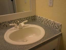 Emejing Mosaic Tile Backsplash Bathroom Contemporary Home Design - Tile backsplash bathroom