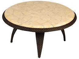 Bali Wicker Outdoor Furniture by Whitecraft Bali Wicker 40 Round Stone Top Coffee Table S533213