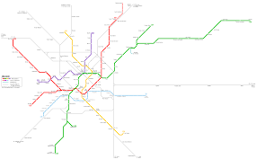 Green Line Metro Map by Milano Metro Map