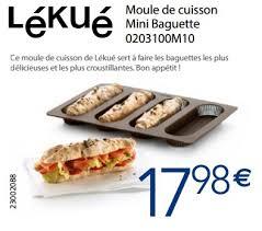 cuisiner moule krefel promotion moule de cuisson mini baguette 0203100m10