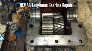 demag tangboom gearbox repair youtube