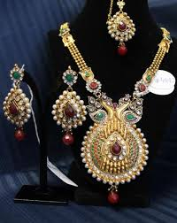 polki filigree work traditional indian jewelry set traditional
